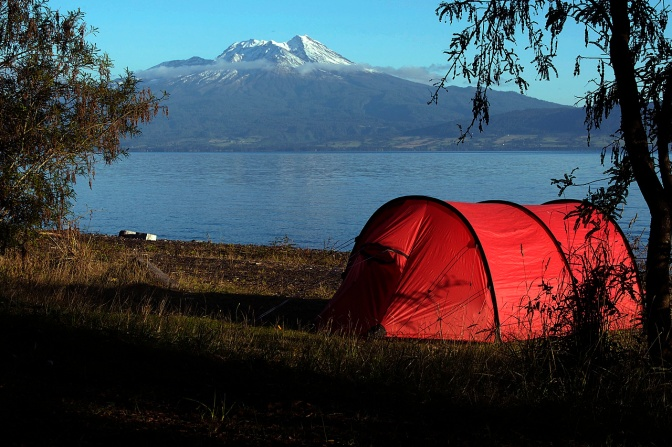 Lago Llanquihue camp site.