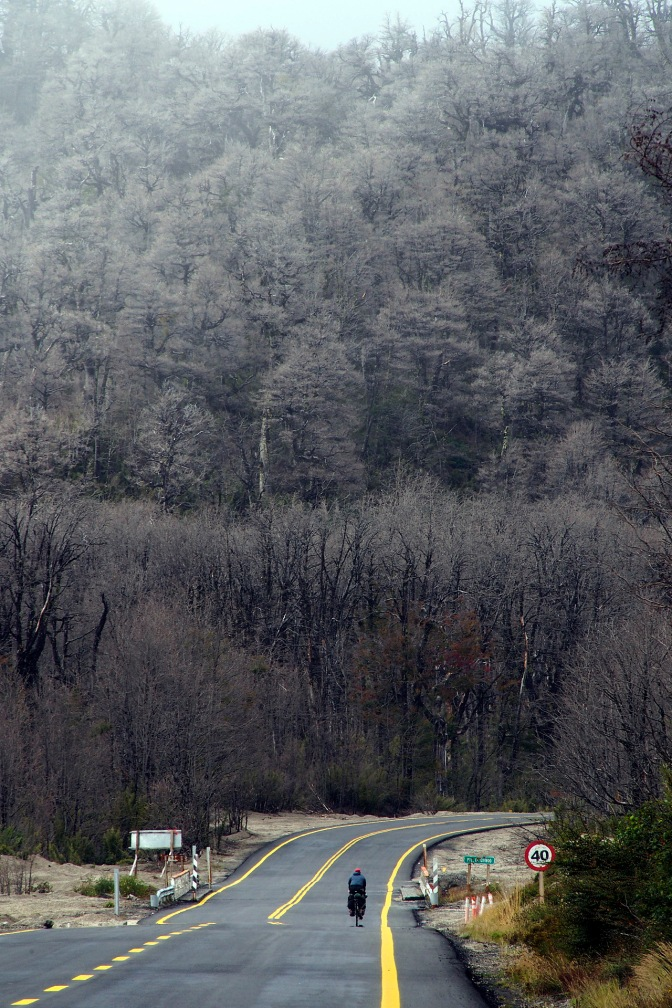 It's nearly winter near the top of Paso Cardenal SamorŽé.
