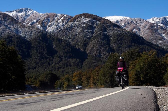 Jan along the road to San Martin De Los Andes.