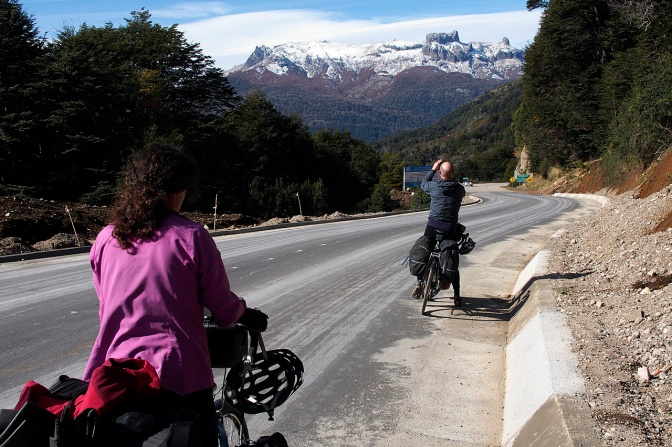 Taking in the magnificent scenery along the 7 Lakes Route.