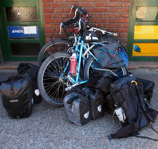 Our pile ready for the bus from Junin De Los Andes to Mendoza.