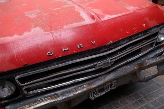 Ancient chevy truck in Mendoza.