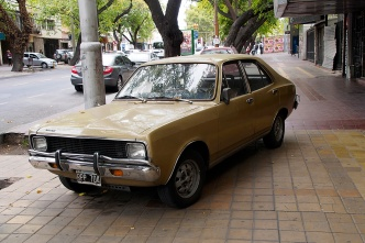 A classic Dodge Duster (I think) in Mendoza.