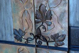 Door handle at Bodega Tempus Alba.