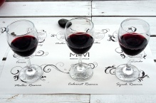 Three Reservas: Malbec, Cabernet Sauvignon and Syrah.