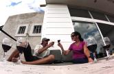 Cheers! Wine tasting at Bodega Mevi.