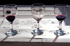 Wine tasting at Bodega Mevi.