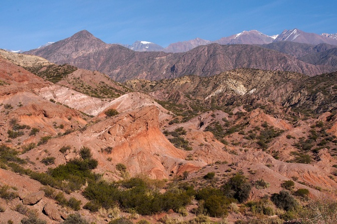 The Andes west of Mendoza.