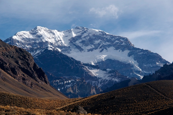 Cerro Aconcagua, the highest peak in the southern and western hemispheres.