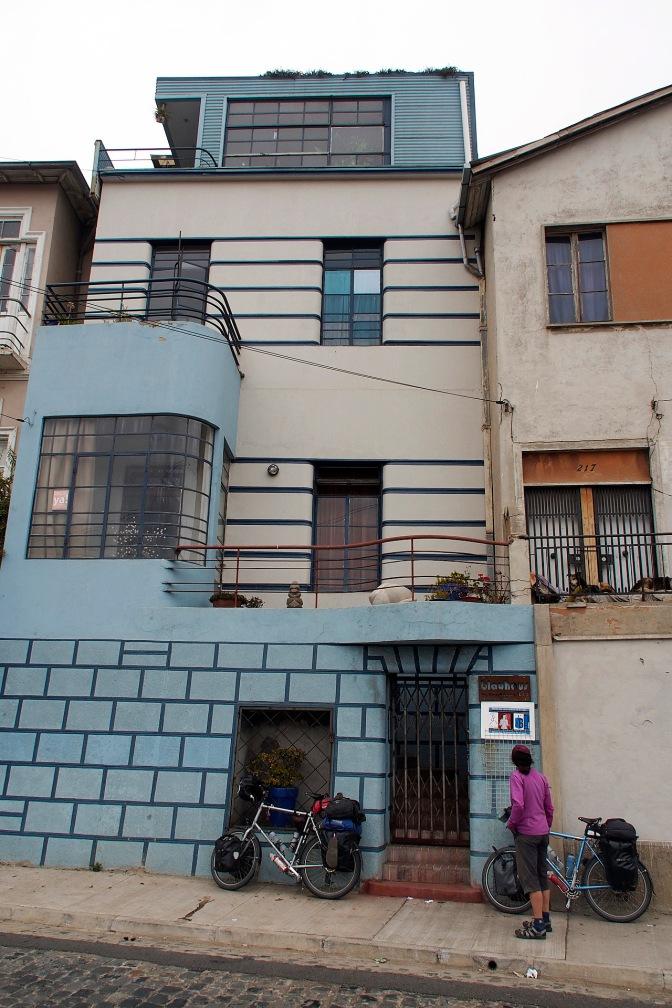 Das Blauhaus, our lodgings in Valparaiso.