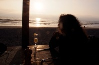 Watching the sunset with a Pisco Sour.