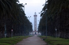 Looking down Fransisco de Aguillera to La Serena's lighthouse.
