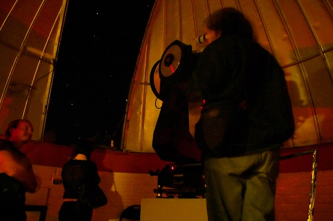 Star gazing at Mamalluca observatory.