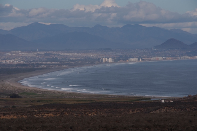 Looking south to La Serena and Coquimbo.