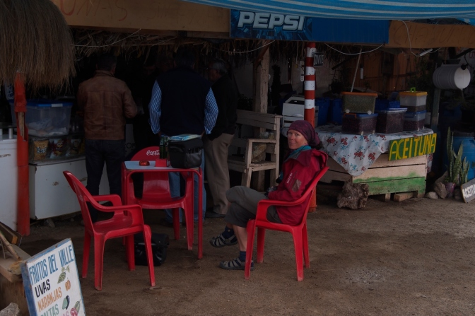 "A tea break at a roadside ""cafŽé""."
