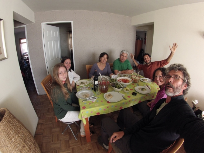 Having lunch with Héctor and his family in their home in Antofagasta.