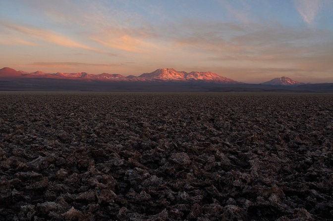 Sunset on the Salar De Atacama.