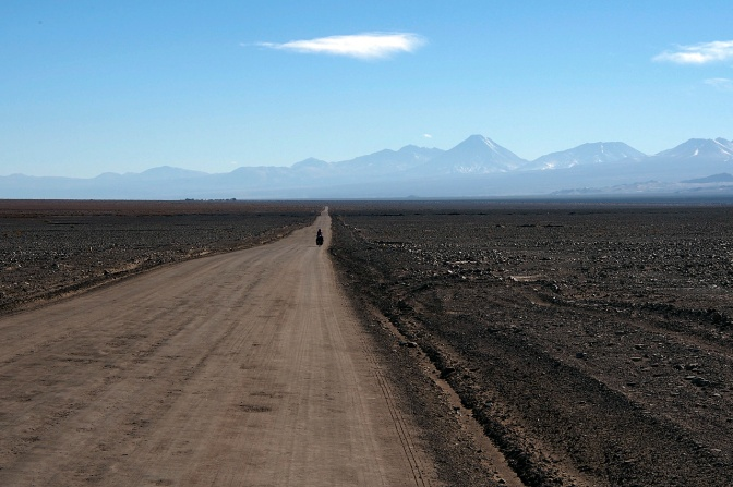 The road north from Peine to San Pedro De Atacama.
