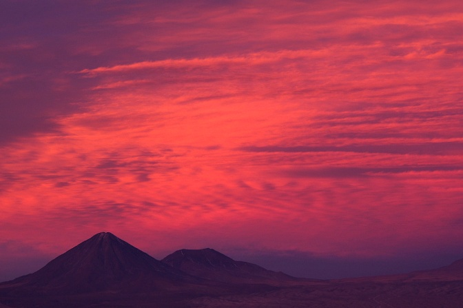 Fire in the sky above Licancabur.