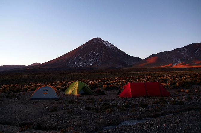 Camped at 3,950 metres below Licancabur.