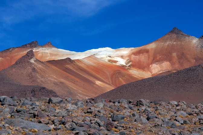 Amazing colours in the mountains between Laguna Verde and Desierto Del Dali.