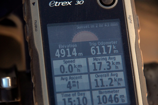 GPS showing the elevation approaching Sol De Mañ–ana pass.