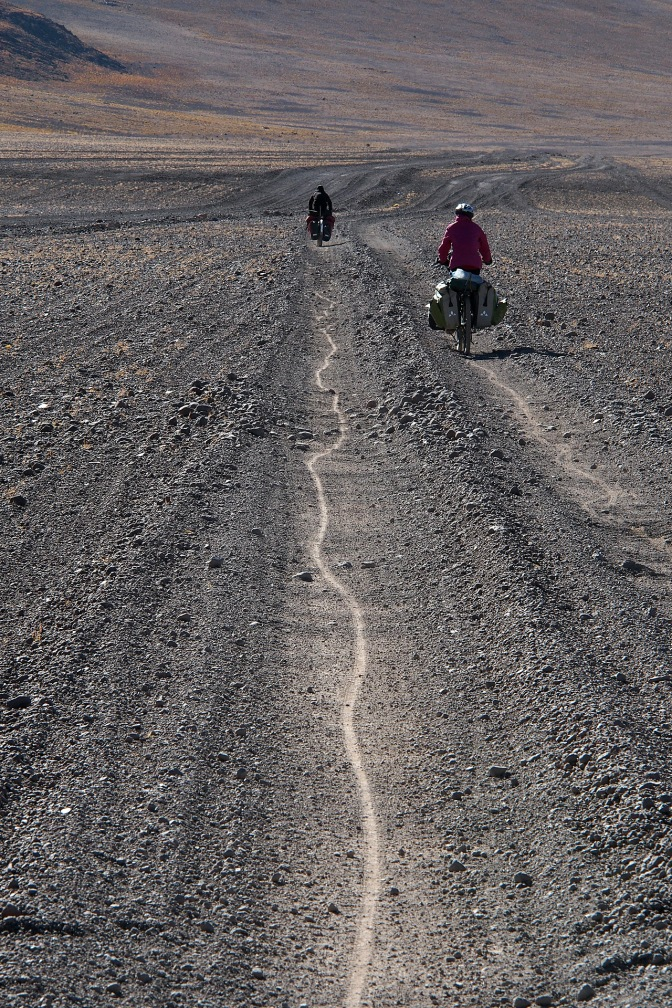 The track to Laguna Colorada.