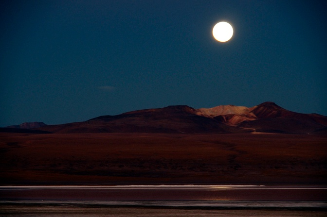 Full moon over Laguna Colorada.