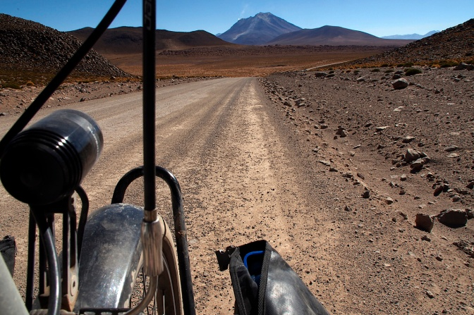 Finally, tarmac, but it was short lived. We only rode it for 8 km before turning off back onto a jeep track.