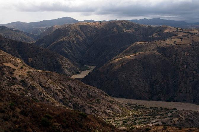 The canyon: a 700 metre descent.