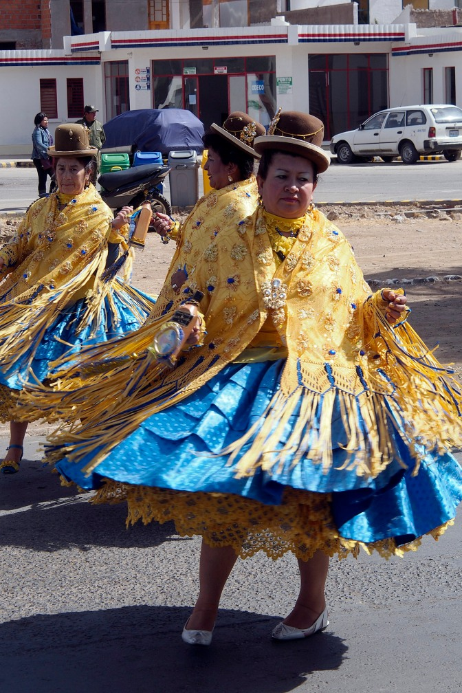 Dancers in a parade in Sucre.