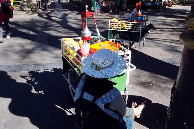 Juice seller in Sucre.
