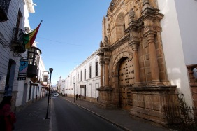 Looking north on Estudiantes in Sucre.