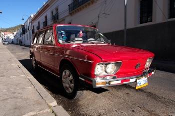 A vintage VW Brasilia.