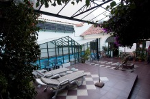 The courtyard of our hotel, Casa Verde.
