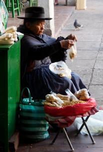 Peanut seller.