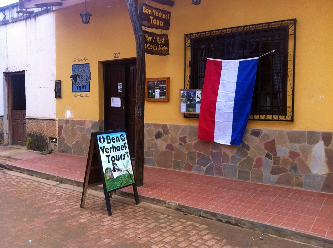 The Dutch bar in Samaipata where we watched Holland's hopes dashed.