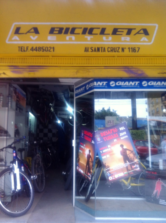 La Bicicleta is a well stocked shop on Av. Santa Cruz.