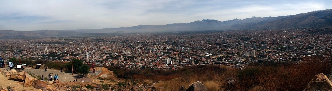 Panorama of Cochabamba.