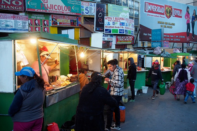 Street food on Paseo El Prado.
