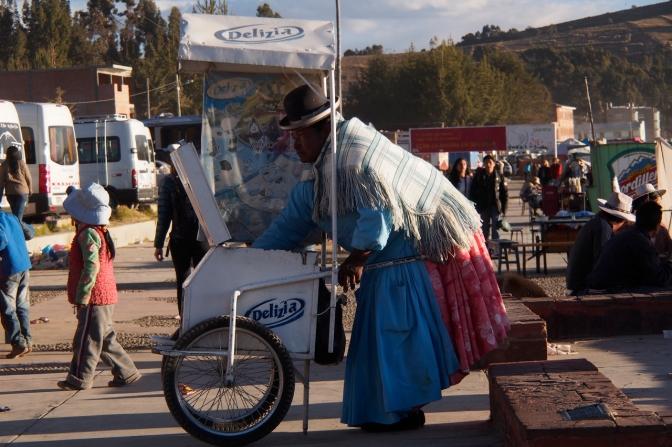 Ice cream vendor on Copacabana Beach.