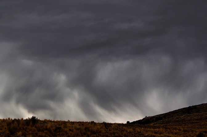 Ominous clouds near Juli, Peru, on the south shore of Lake Titicaca.