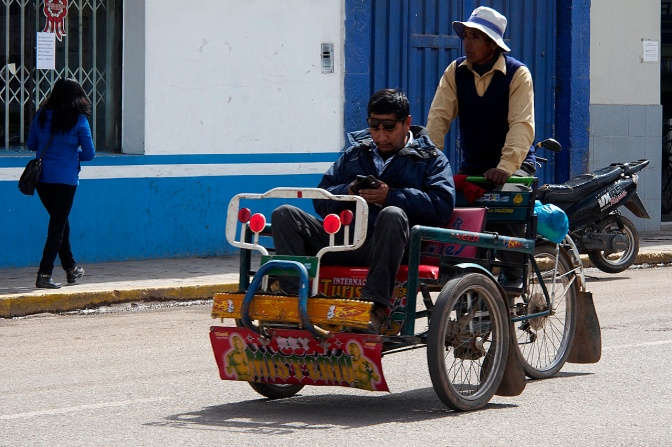 Juliaca bicycle taxi.