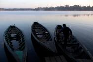 Dawn on Lake Sandoval.