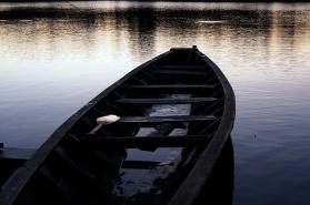 Lake boat on Lago Sandoval.
