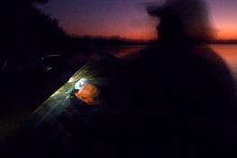 Night paddle.
