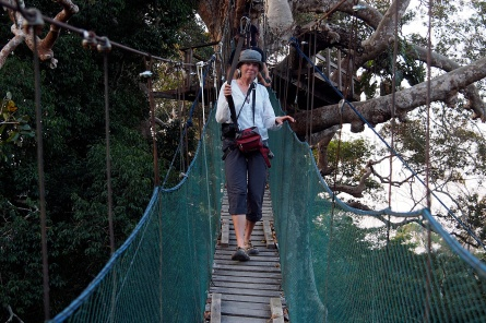 Jan on the canopy walk.
