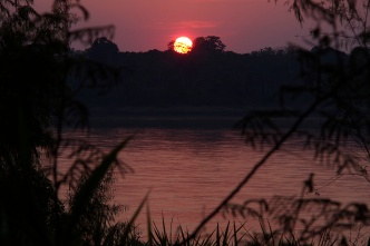 Sunset over the Madre De Dios.