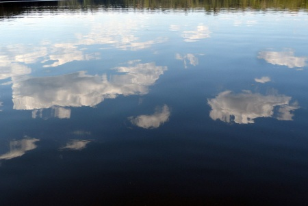 Sky and water.