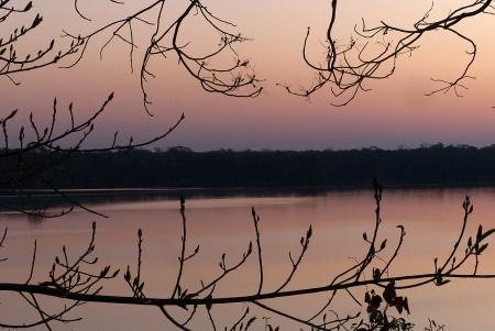 Sunset over Lake Sandoval.